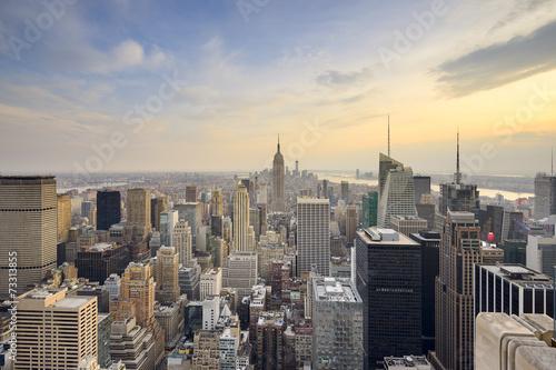 Poster New York City Aerial Skyline View