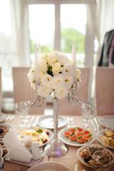edding decoration table flowers marriage