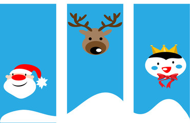 Christmas background with characters