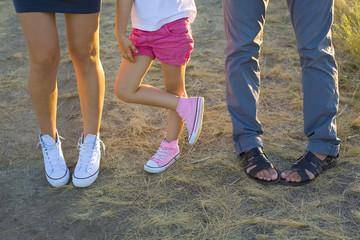 three pairs of legs