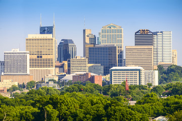 Nashville, Tennessee, USA Downtown Cityscape