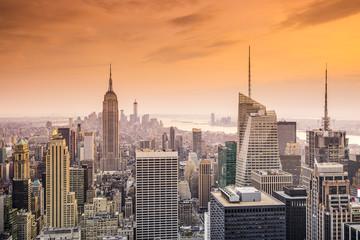 New York City Midtown Manhattan Cityscape Aerial View