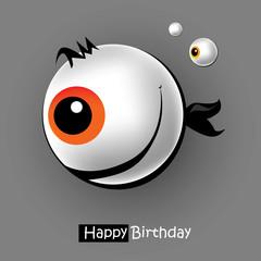 Happy Birthday card smile fish eye
