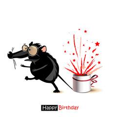 Happy Birthday smile mouse gift