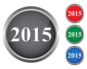 2015 new year buttons
