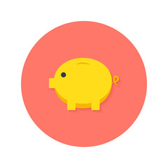 Money Pig Flat Icon