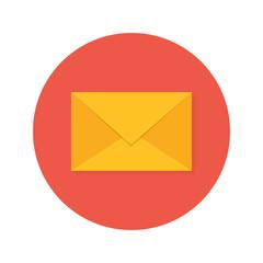 Mail Envelope Flat Circle Icon