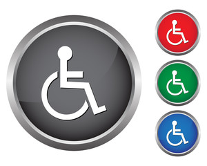Handicapped wheelchair buttons