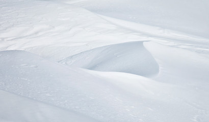 Abstract snow drifts background