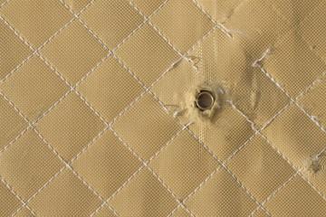 hit shot 9mm in Kevlar bulletproof vest