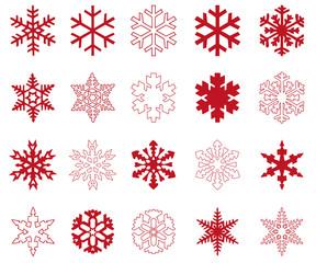 Rote Sterne - Winter & Weihnachten