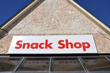 Snack shop sign