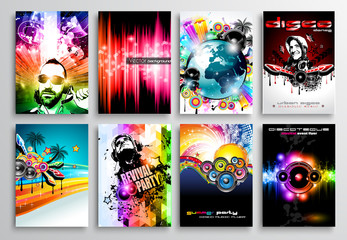 Set of Club Flyer design, Party poster templates