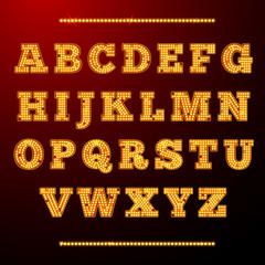 Lamp light alphabet