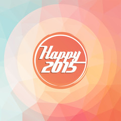 2015 new year greeting card, polygon, radial concept