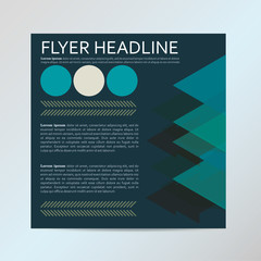Flyer graphic design Layout vector template