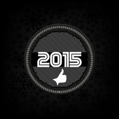 2015 new year celebrate card