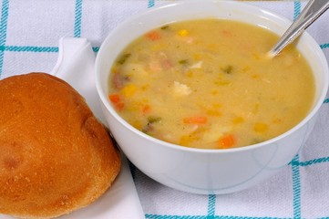 Smoked fish chowder © Arena Photo UK