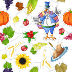 Thanksgiving stickers elements pattern