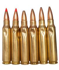 Six damaged shells