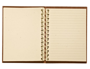 Brown Leather Journal With Blank Recycled Paper Pages