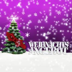 Weihnachtsangebot Angebot Angebote Weihnachten pink