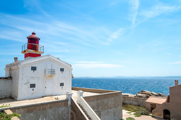 Lighthouse on the Lavezzi Island, Corsica France