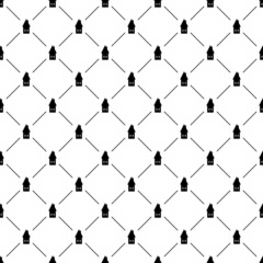Seamless simple pattern with houses