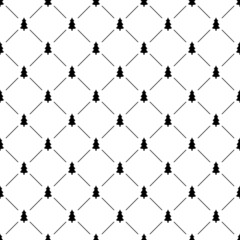 Seamless simple pattern with Christmas tree