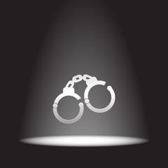 handcuffs vector icon