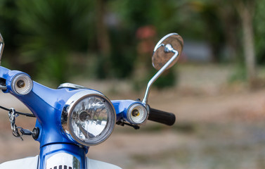 close up classic motorcycle