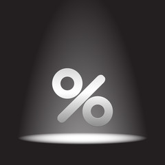 percent sign vector icon
