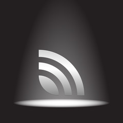 rss news feed vector icon