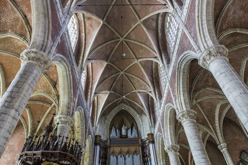 Interiors of Saint Michael cathedral, Ghent, Belgium