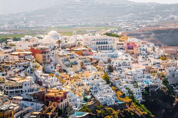 View on Thira town of Santorini island, Greece
