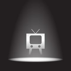 television symbol vector icon