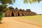 Elephant stables, Hampi, Karnataka, India (UNESCO World Heritage poster