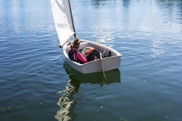 Young Girl sails