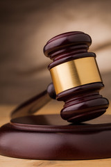 judge gavel closeup
