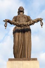 Фигура «Мать-Родина». Пискаревское мемориальном кладбище