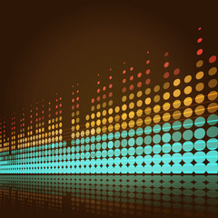 musical lights background