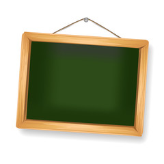 little chalkboard hanging on white