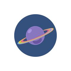Saturn icon, planet icon, vector illustration
