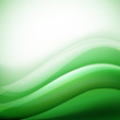 green background with folding waves