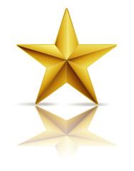 golden star on white