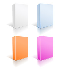 set of boxes on white