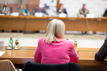 woman at conference room