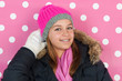 canvas print picture - Portrait teen girl in winter