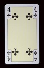 Spielkarten der Ladys - Kreuz Vier