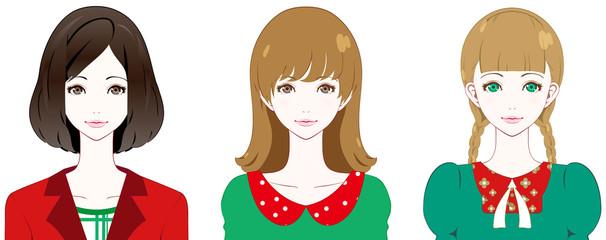 女性 ファッション クリスマスカラー